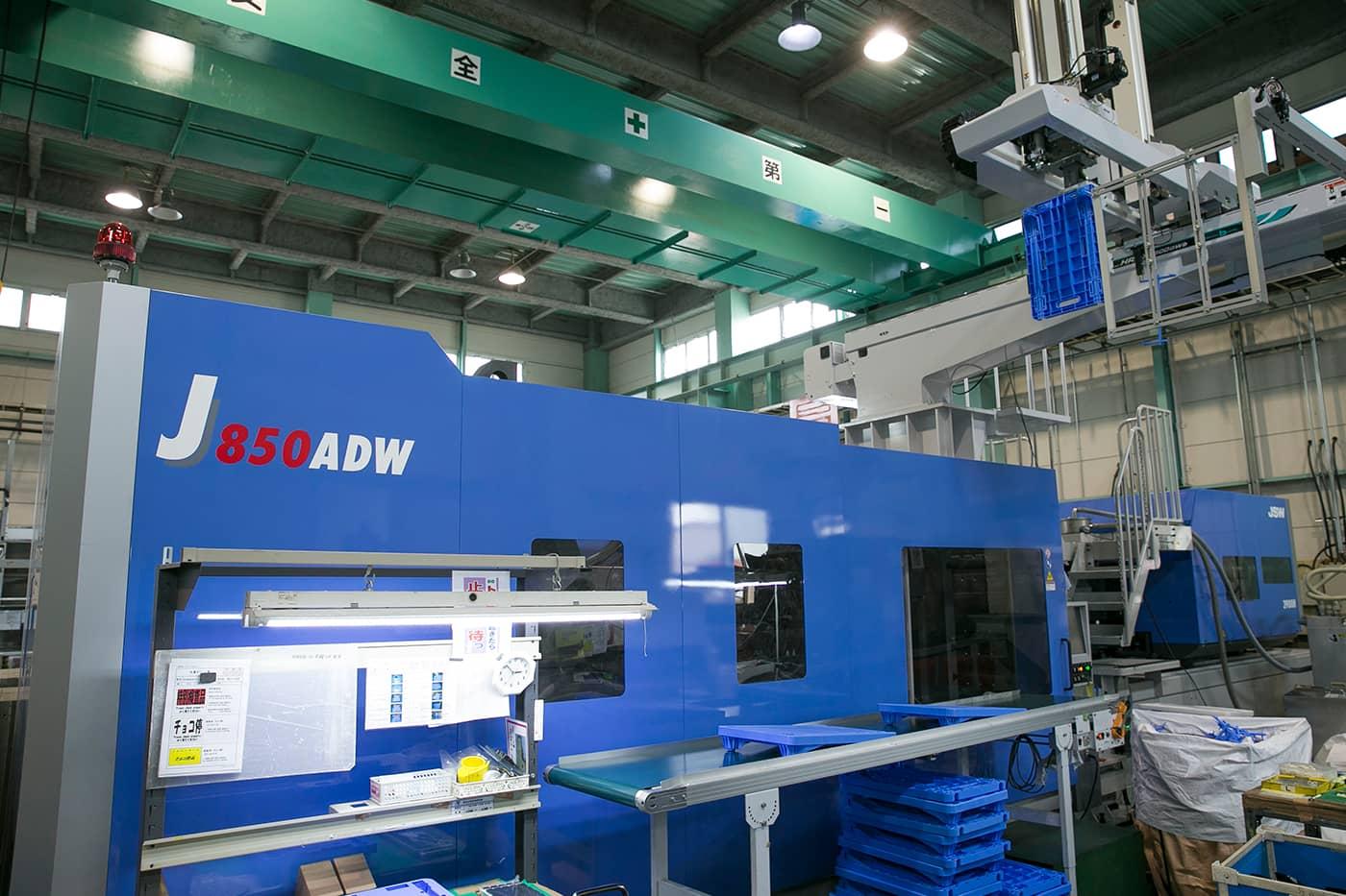 数々のものづくりで積み上げた樹脂成形加工の技術が台車の開発にも活きている。