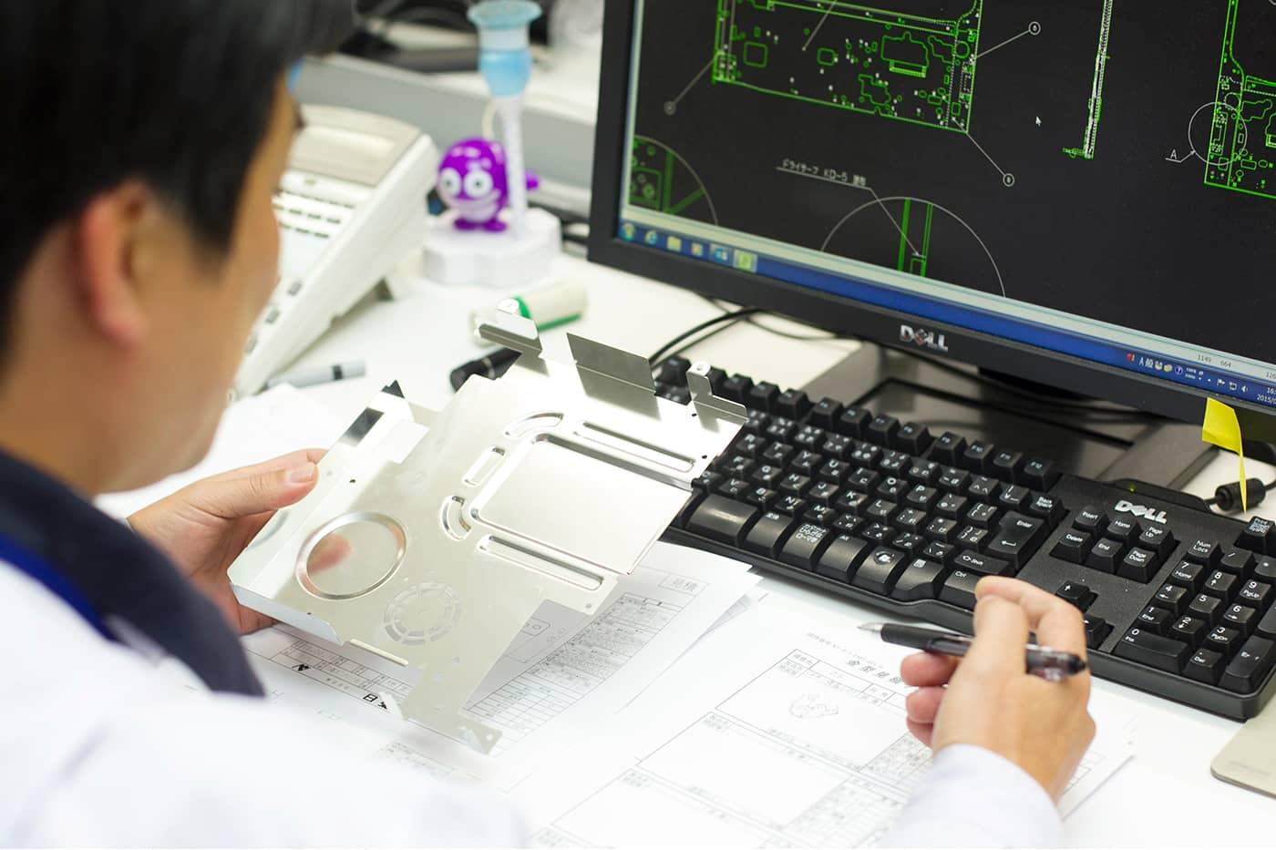 試作品製造から量産まで一貫体制でものづくりに取り組める体制がある。